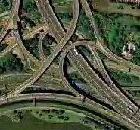 Spaghetti Junction Satellite Photograph