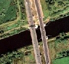 Thelwall Viaduct satellite photograph